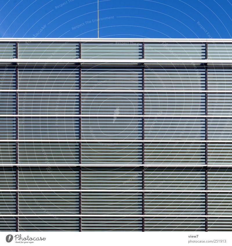 House (Residential Structure) Wall (building) Window Architecture Wall (barrier) Building Metal Line Glass Elegant Facade Design Arrangement Beginning Fresh