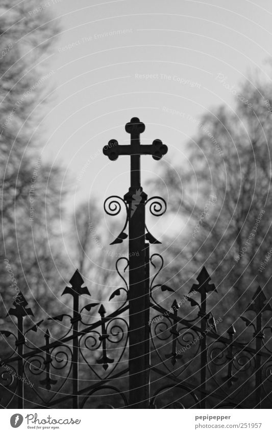 God's Acre Funeral service Door Metal Sign Crucifix Old Dark Cold Black Emotions Moody Compassion To console Sadness Grief Death Loneliness Belief