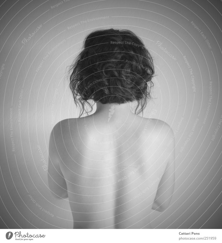 talking behind my back Feminine Young woman Youth (Young adults) Woman Adults Body 1 Human being Stand Elegant Naked Round Thin Beautiful Purity Modest Back