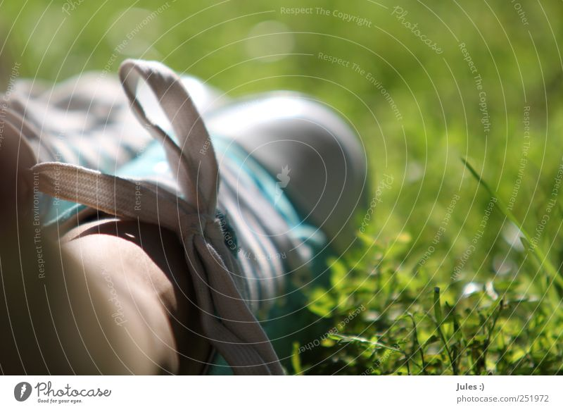 Human being Nature Plant Sun Summer Calm Grass Garden Happy Legs Feet Park Earth Infancy Contentment Footwear