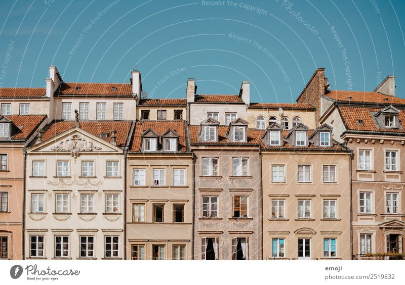 Warsaw VII Town Capital city Old town House (Residential Structure) Wall (barrier) Wall (building) Facade Window Tourism Warszaw Colour photo Multicoloured