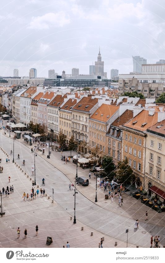 Warsaw II | old and new town Town Capital city Downtown Old town Skyline House (Residential Structure) Places Marketplace Populated Street Warszaw Colour photo