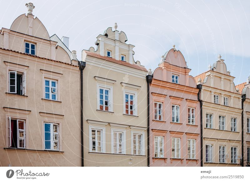 Warsaw IV Village Town Capital city House (Residential Structure) Detached house Wall (barrier) Wall (building) Facade Orange Tourism Warszaw Pastel tone