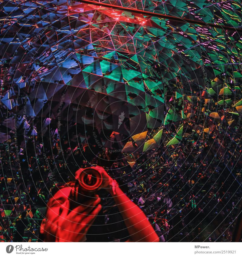 colorful facets of life Architecture Blue Mirror Multicoloured Triangle Mirror image Colour photo Interior shot Interior design Pattern Structures and shapes