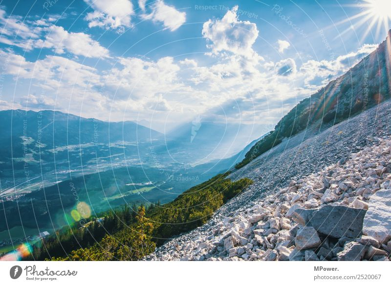 Nature Vacation & Travel Clouds Mountain Environment Bright Hiking Vantage point Idyll Beautiful weather Tall Peak Alps Austria Stony Scree