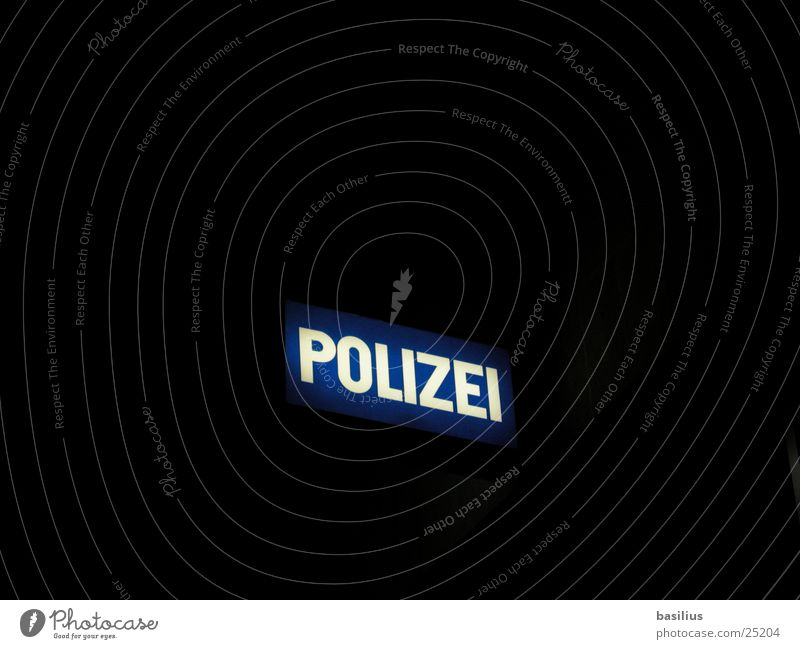 pop police Light Dark Night Lamp Signs and labeling Signage