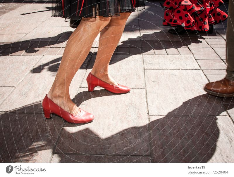 Legs dancing flamenco Beautiful Sun Music Human being Feminine Woman Adults Female senior Feet 1 30 - 45 years Dancer Footwear Colour fair holiday sunny Spain