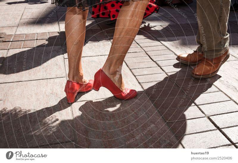 Legs dancing flamenco Beautiful Sun Music Human being Masculine Feminine Woman Adults Man Feet 2 30 - 45 years Dancer Footwear Colour fair holiday sunny Spain