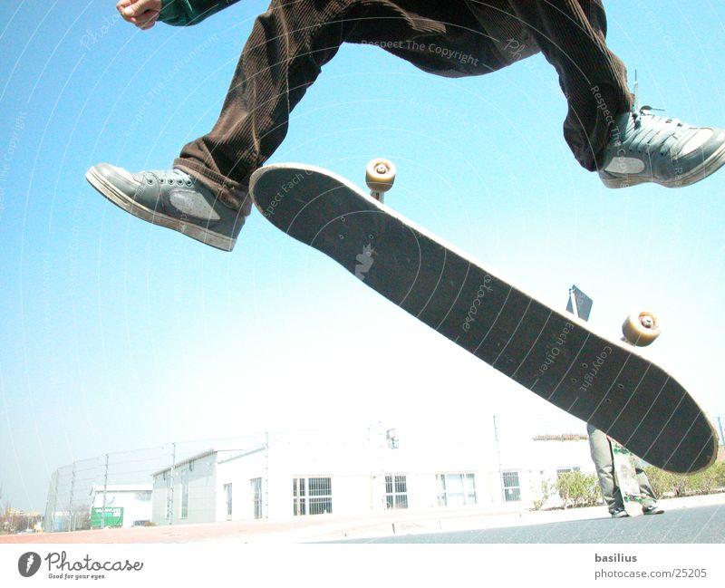 fabian and his skateboard Jump Sports Skateboarding cort Wooden board Street