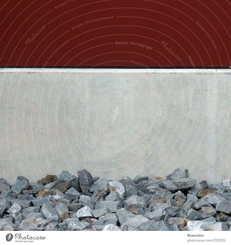 Red Graffiti Gray Stone Concrete Corner Stripe Level Horizontal Unload Fill