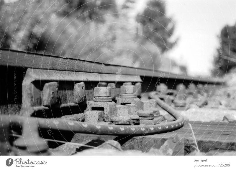 Transport Railroad Railroad tracks Gravel