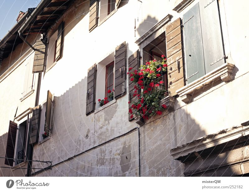 Window Building Esthetic Village Bavaria Alley Tradition Rural Shutter Town View from a window Window board Window frame Mountain village