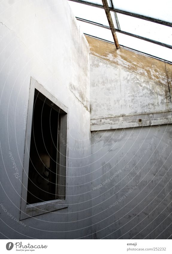 free space House (Residential Structure) Industrial plant Factory Wall (barrier) Wall (building) Facade Window Dark Gray Neutral Colour photo Subdued colour