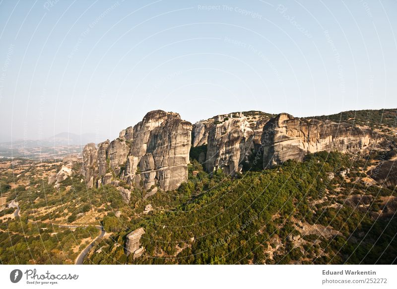 Vacation & Travel Plant Landscape Mountain Rock Air Christianity Greece Monastery Deserted Orthodoxy Meteora