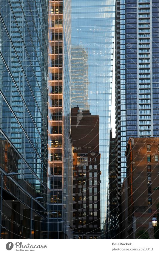 #A# Facade Labyrinth Populated Esthetic City Toronto Cladding Glas facade Building High-rise Canada Colour photo Subdued colour Exterior shot Detail