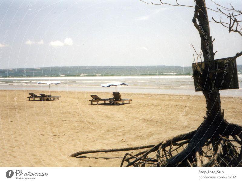 Ocean Summer Beach Relaxation Signs and labeling Asia Deckchair Bali Indonesia Legian Beach