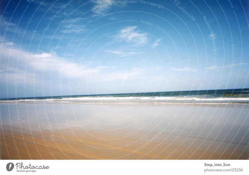 Beach & Water Sand island Australia East coast Ocean Clouds Fraser Island Vacation & Travel 4weeldrive Blue sky