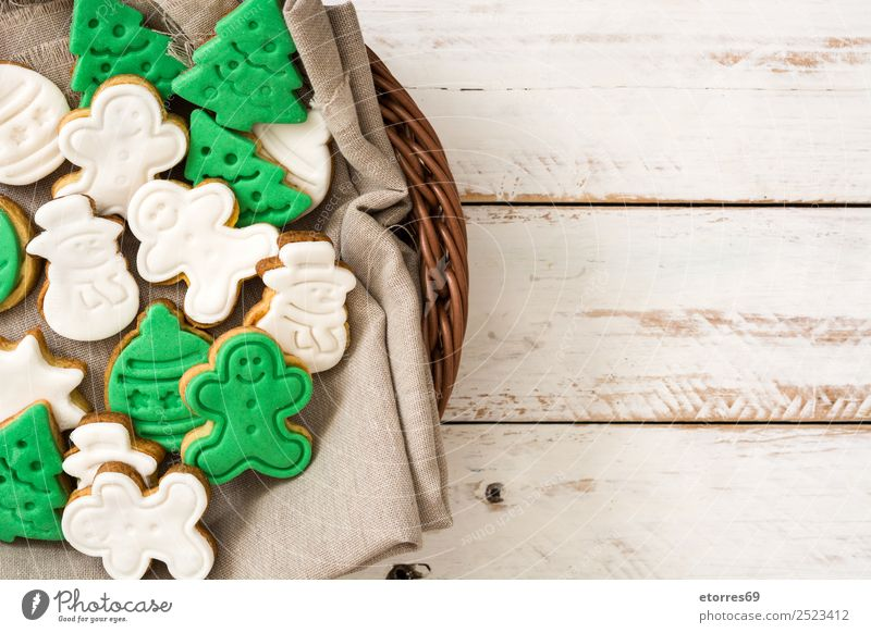 Christmas cookies Food Dessert Healthy Eating Vacation & Travel Winter Decoration Table Feasts & Celebrations Christmas & Advent Tree Wood Delicious Sweet Brown