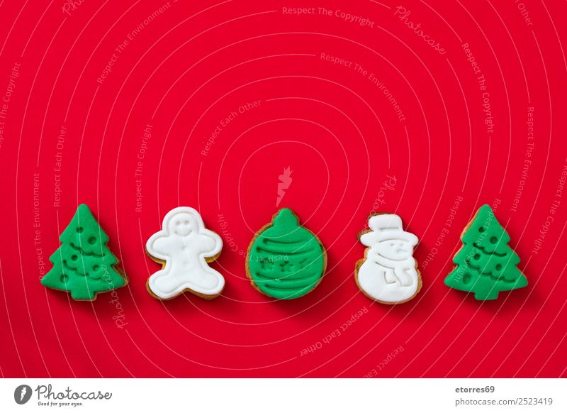 Christmas cookies Vacation & Travel Healthy Eating Christmas & Advent Green Tree Red Winter Dish Food photograph Feasts & Celebrations Brown Decoration Sweet