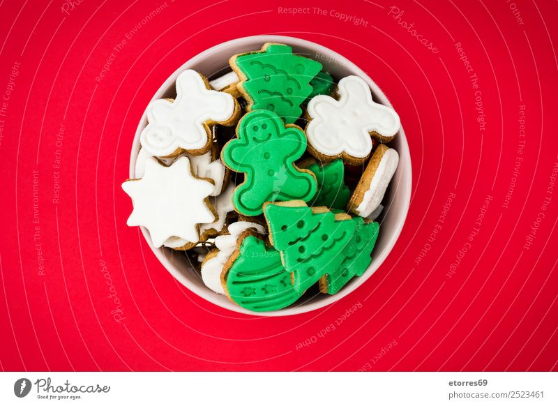 Christmas cookies Cookie Christmas & Advent Decoration Food Healthy Eating Dish Food photograph Dessert December Feasts & Celebrations Baking Snack Sweet Candy