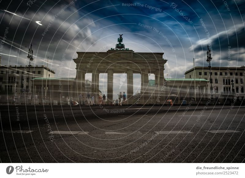 Human being Summer Town Clouds Street Architecture Movement Berlin Art Tourism Germany Group Moody Car Europe Power