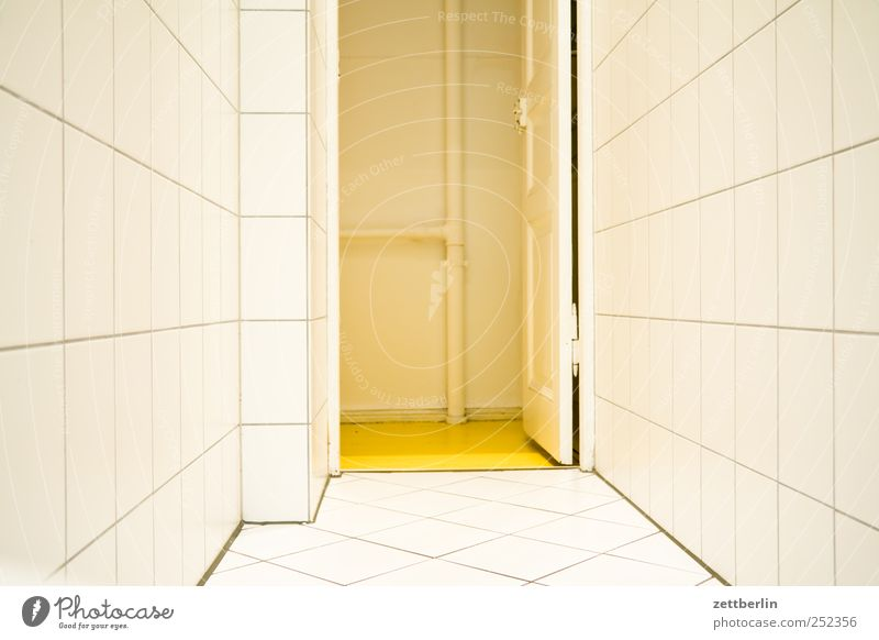 White Cold Wall (building) Wall (barrier) Sadness Flat (apartment) Gloomy Living or residing Good Bathroom Clean Tile Hallway Sterile Sanitary