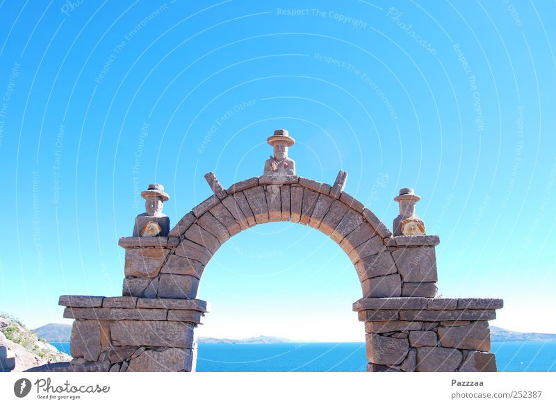 Sky Blue Water Vacation & Travel Wall (building) Architecture Wall (barrier) Stone Lake Door Contentment Manmade structures Gate Discover Ruin Build