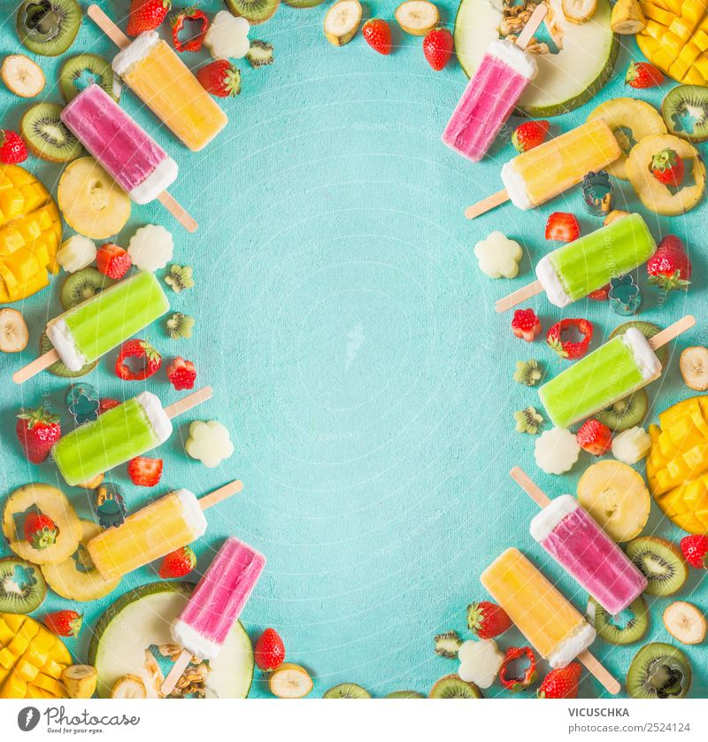 Healthy Eating Summer Food photograph Background picture Yellow Style Fruit Design Nutrition Ice Ice cream Shopping Organic produce