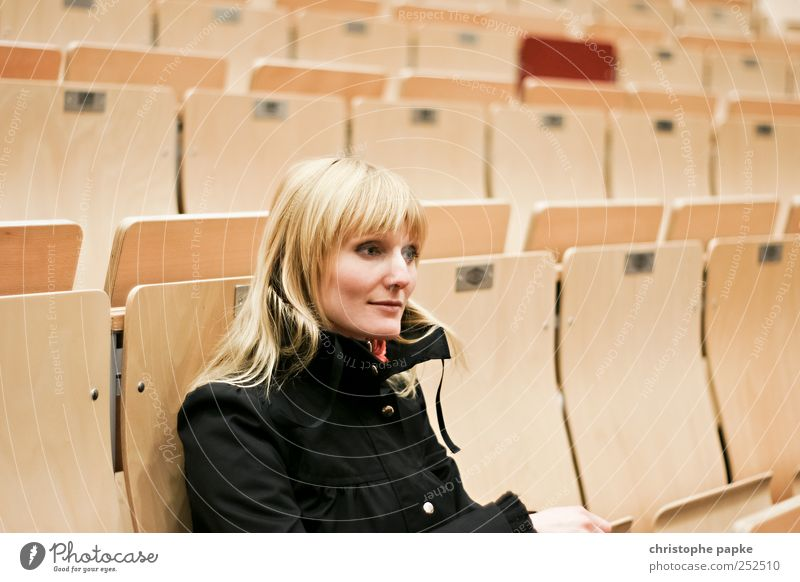 female student Education Science & Research Academic studies Study University & College student Lecture hall Feminine Young woman Youth (Young adults) 1