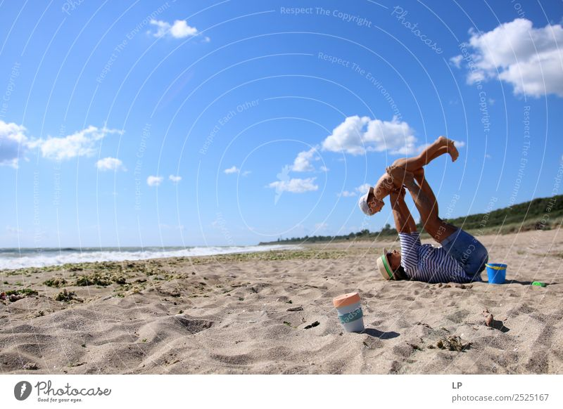 playing on the beach Woman Child Human being Youth (Young adults) Young woman Joy Adults Life Senior citizen Emotions Family & Relations Moody Power Infancy