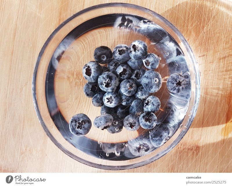 blueberry Fruit Breakfast Organic produce Vegetarian diet Slow food Art Water Sun Summer Bowl Glass Fitness Esthetic Exceptional Healthy Cold Delicious