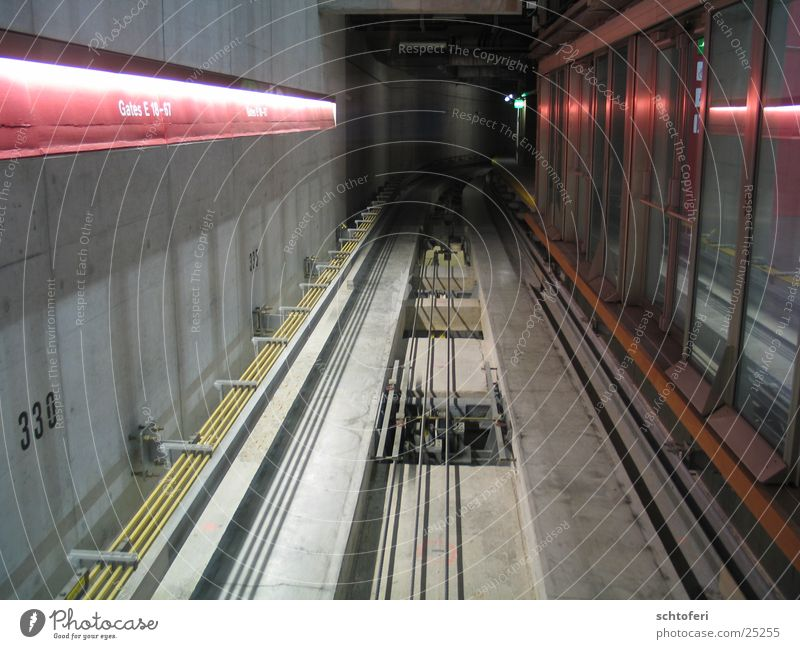 cable metro Tunnel Cable car Infinity Aimless Future Transport Underground Railroad Iron-pipe Target Hollow Logistics
