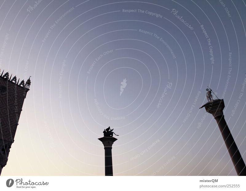 Sky Blue Vacation & Travel Heaven Art Esthetic Italy Past Statue Landmark Wanderlust Tourist Attraction Venice Novella Lion