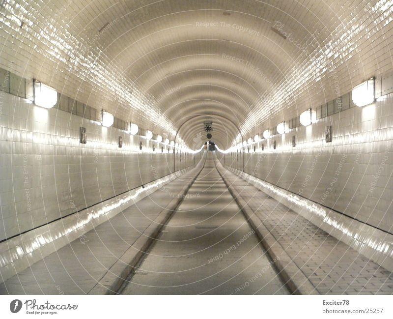 Street Lamp Tile Historic Vanishing point Tunnel vision St Pauli-Elbtunnel