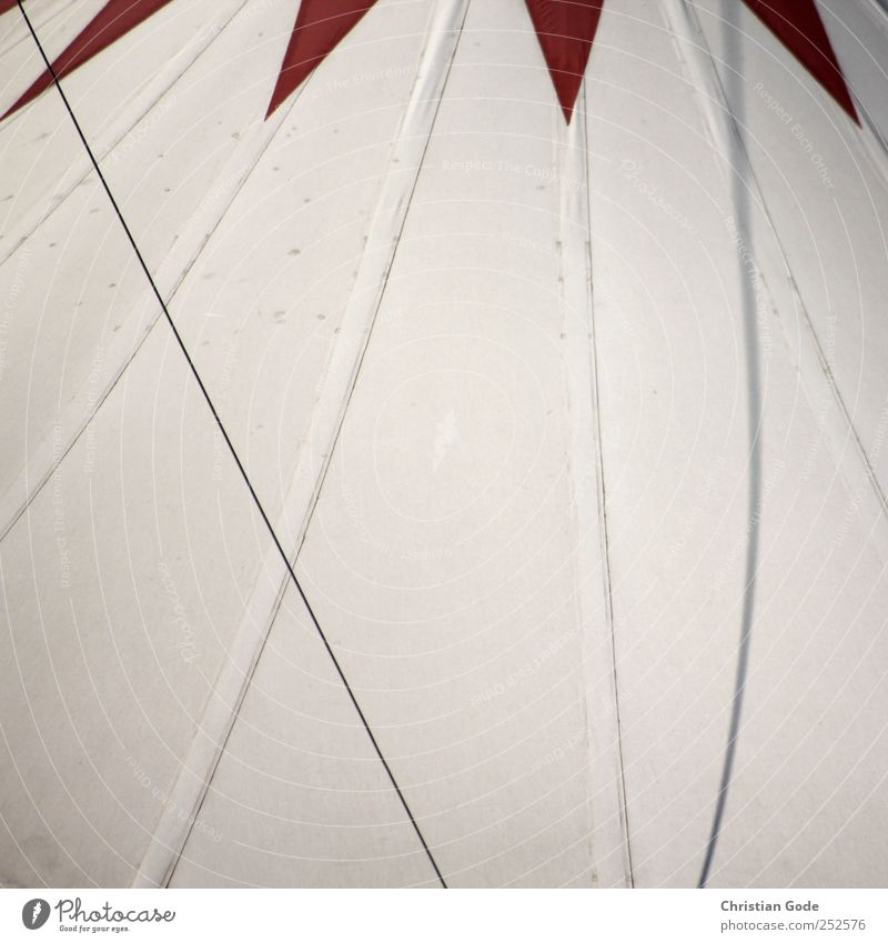 artista Leisure and hobbies Theatre Stage Circus Manmade structures Building Architecture Red Tent Circus tent Diagonal Shadow White Tarpaulin Line Ceiling