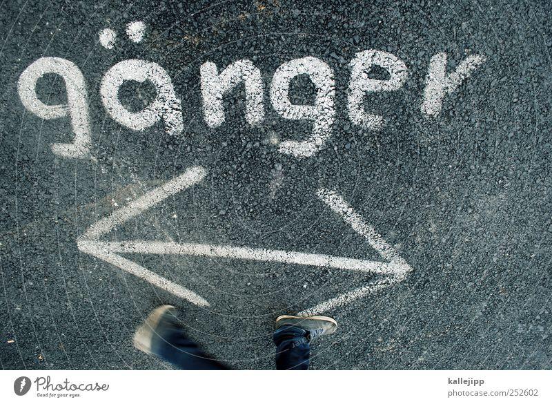 Human being Graffiti Movement Legs Feet Going Walking Running Planning Characters Target Arrow Sign Advice Direction Left