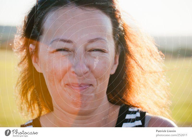 feeling good Chamansülz Human being Feminine Woman Adults Head 1 30 - 45 years Relaxation To enjoy Laughter Illuminate Brash Free Friendliness Happiness Fresh