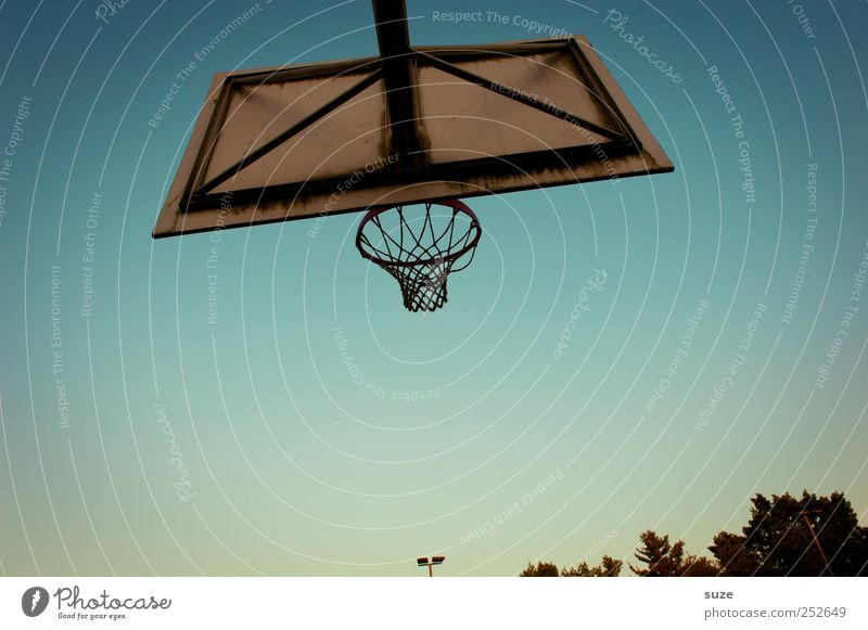 Sky Blue Sports Environment Basketball Basketball basket Cloudless sky Sports equipment Sporting grounds