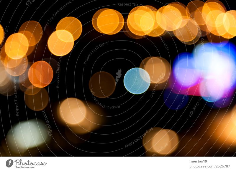 lights blur Lifestyle Style Design Night life Dark Colour Glitter background flash Focal point colorful Circle lighting Glow neon lamps Colour photo