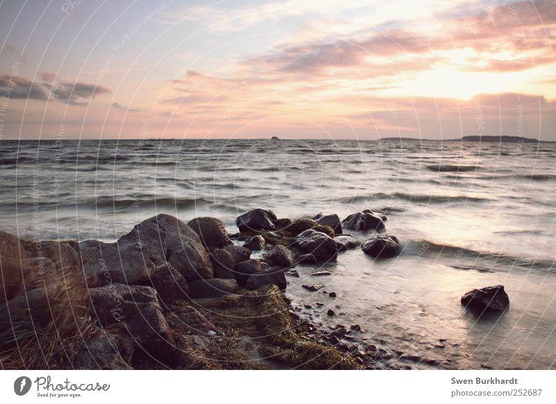 Water Sun Vacation & Travel Summer Beach Ocean Clouds Far-off places Freedom Air Coast Waves Horizon Trip Tourism Island