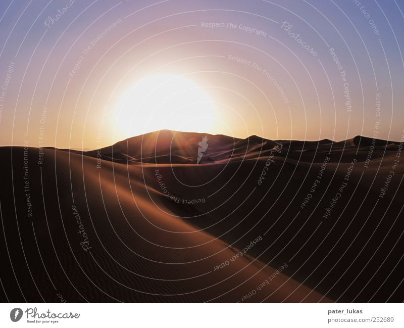 Wavy Sunset Travel photography Vacation & Travel Adventure Far-off places Freedom Expedition Summer Nature Landscape Elements Sand Cloudless sky Sunrise