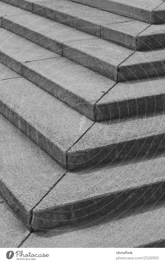Steps sw Architecture Deserted Stairs Movement Going Walking Gray Black & white photo Exterior shot Day