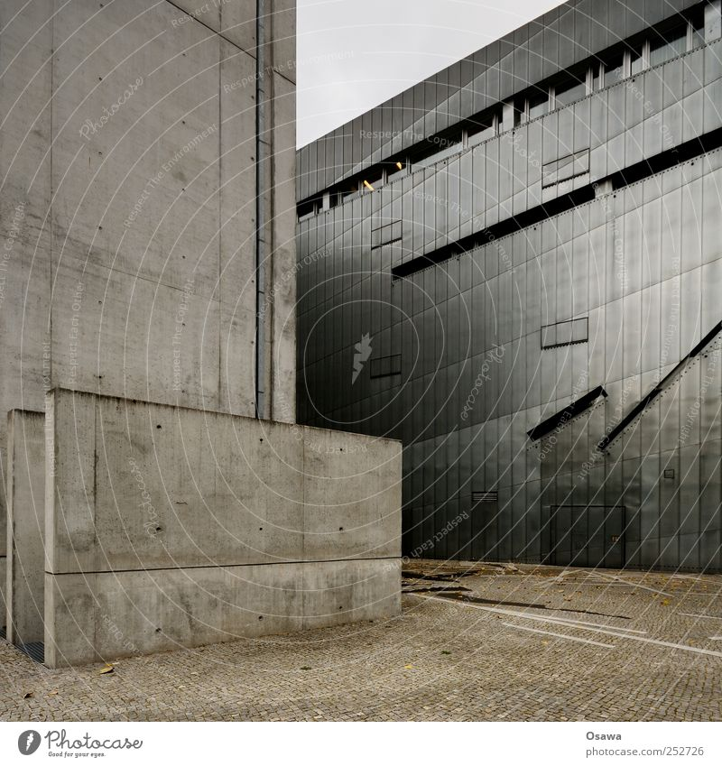 Jewish Museum 3 Berlin Architecture architectural photography Building Manmade structures Judaism Tourist Attraction Sightseeing Facade Modern Tin Gray Past