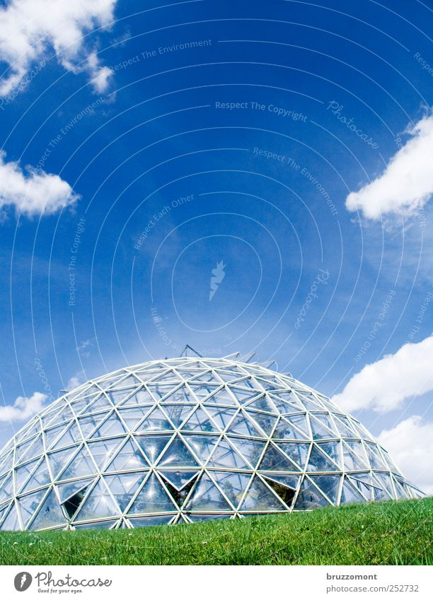 Life on Mars Style Design House (Residential Structure) Building Greenhouse Facade Esthetic Exceptional Modern Blue Growth Future Round futuristic biosphere