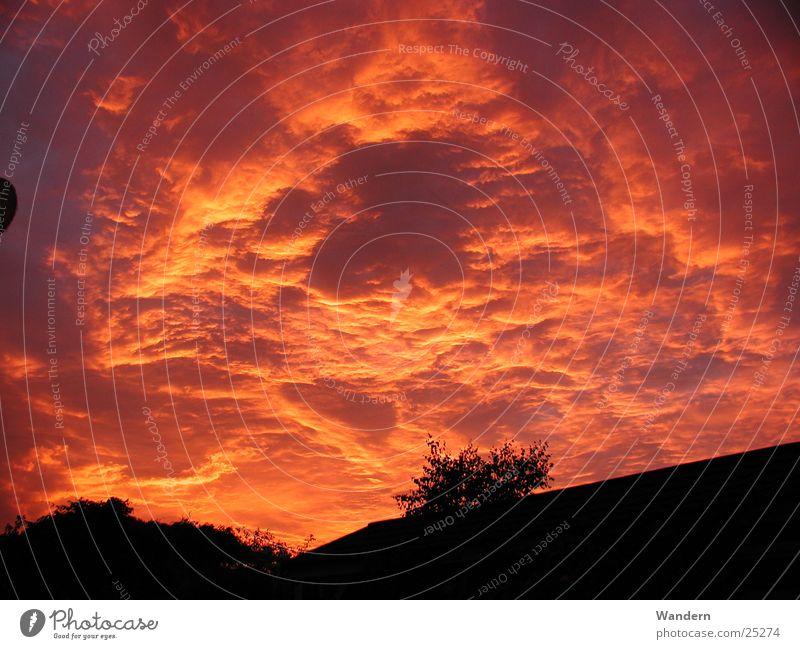 Sunset Clouds Moody Kleinnaundorf Evening Sky