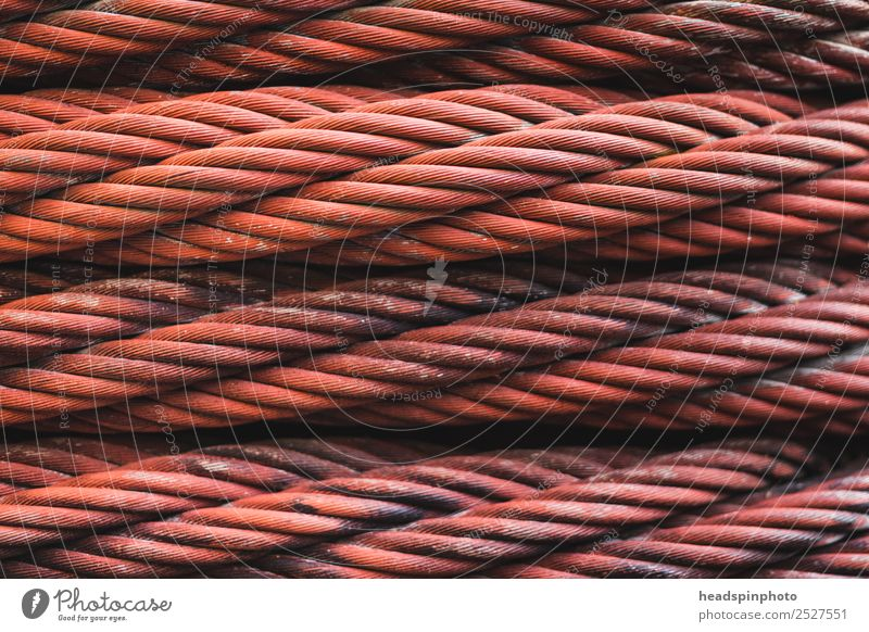 Rusty iron cable Craftsperson Factory Construction site Machinery Technology Industry Metal Network Work and employment To hold on Dirty Firm Strong Brown Power