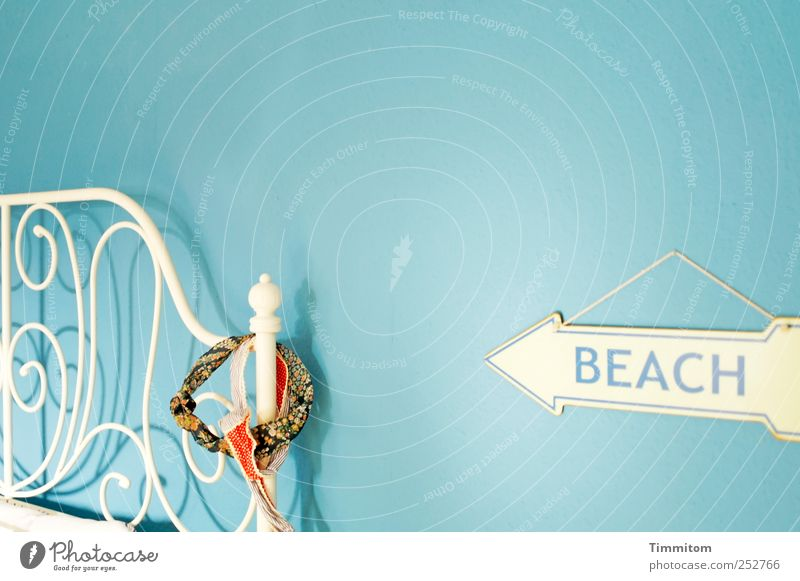 Blue White Beach Joy Emotions Style Metal Contentment Esthetic Authentic Cool (slang) Living or residing Bed Joie de vivre (Vitality) Furniture