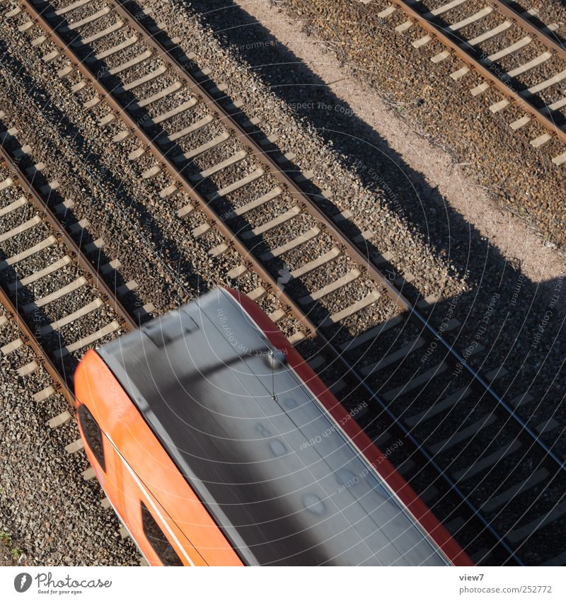 Red Metal Line Beginning Modern Transport Railroad Esthetic Authentic Stripe Driving Simple Logistics Railroad tracks Services Traffic infrastructure