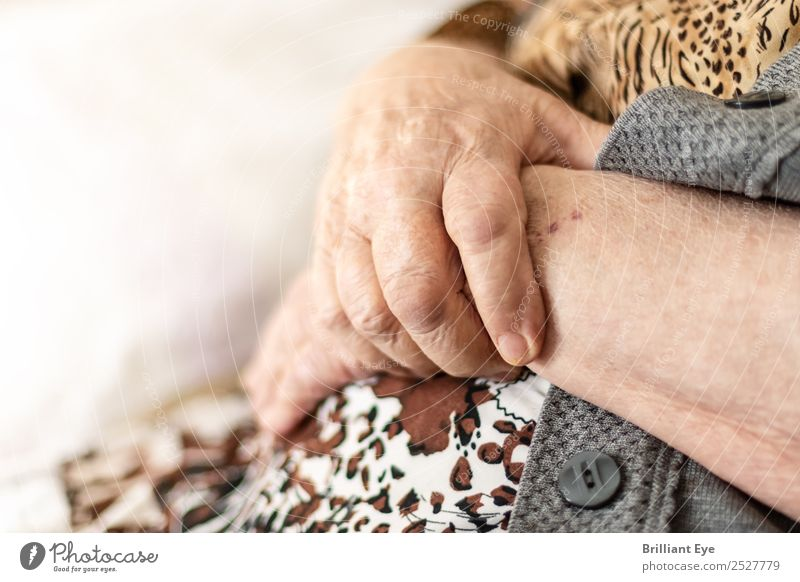 amalgamation Human being Feminine Female senior Woman Grandmother Hand 1 60 years and older Senior citizen Sign Wait Old Authentic Near Soft Contentment Safety