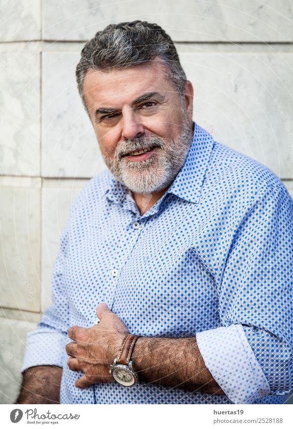 Attractive man 50 years Lifestyle Elegant Style Hair and hairstyles Face Calm Human being Masculine Man Adults Male senior 45 - 60 years Fashion Clothing Beard